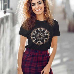 Black T-Shirt with Mandala